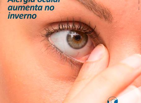 Alergia ocular aumenta no inverno.