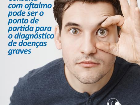 Avaliação ocular pode ser o ponto de partida para o diagnóstico de doenças graves