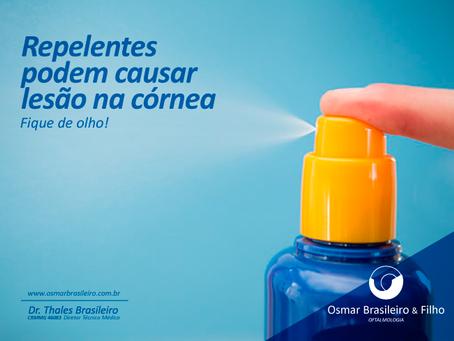 Repelentes. Cuidados para evitar acidente ocular.
