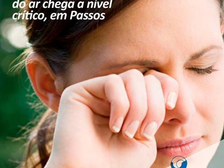Saúde ocular: Umidade relativa do ar chega a nível de estado de alerta, em Passos
