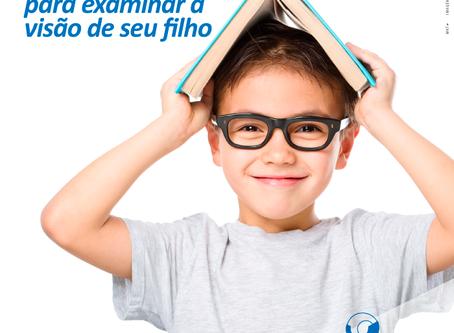Aproveite as férias para examinar a visão de seu filho