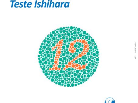 Teste Ishihara tem o objetivo de detectar o daltonismo