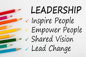 LEADERSHIP written on a white background