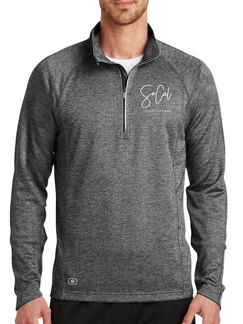 Grey Performance Sweater (white logo)