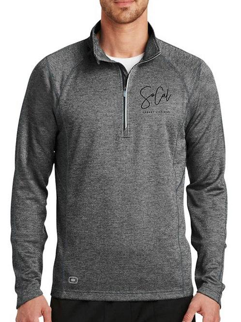 Grey Performance Sweater (black logo)
