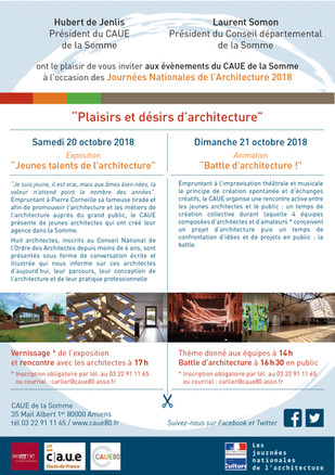 19, 20, 21 octobre : A la découverte du patrimoine architectural et de ceux qui le construisent  !