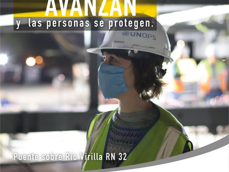 Las obras avanzan y las personas se protegen - PUENTE SOBRE EL RÍO VIRILLA RUTA NACIONAL 32