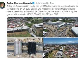 Twitter & facebook del presidente Carlos alvarado