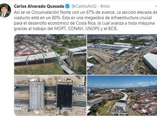 Twitter & Facebook del presidente de Costa Rica Carlos Alvarado Quesada