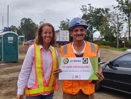 El nuevo puente sobre el Río Virilla gestiona sus residuos a través del programa Ecolones