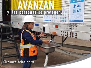 Las obras avanzan y las personas se protegen - Circunvalación Norte - Paso a desnivel Guadalupe