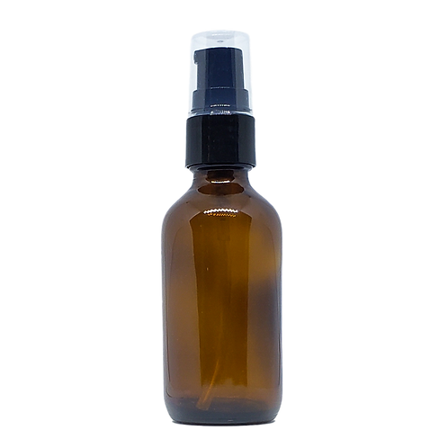 2 oz Amber Glass Bottle with Treatment Pump
