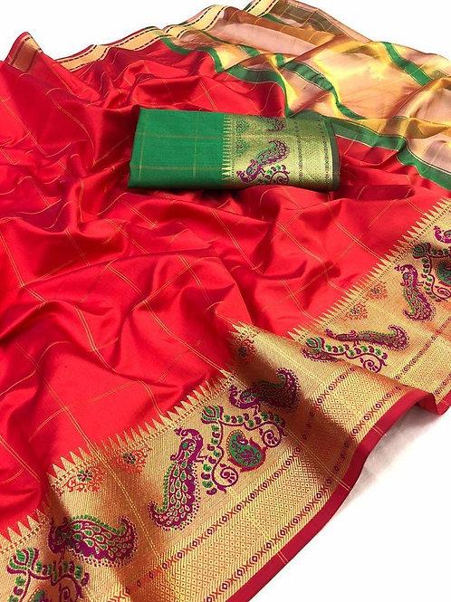 Silk saree-lichi silk