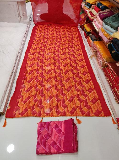 Masakali print sarees