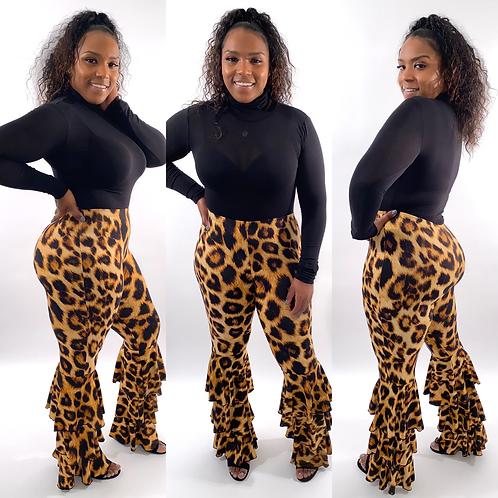 Leopard Ruffle Pants