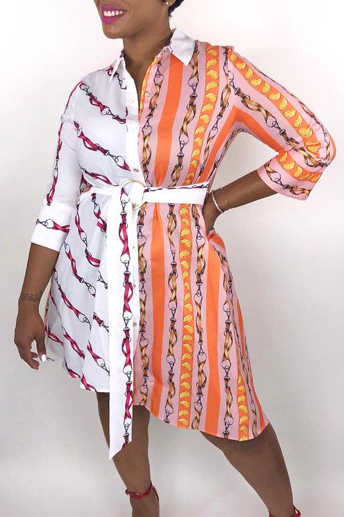 Slanted Chain Dress
