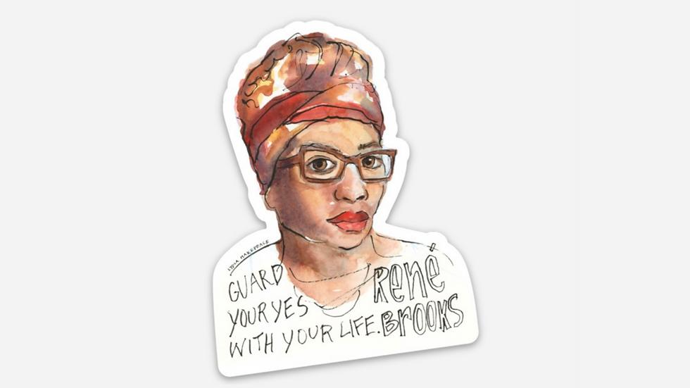 Affirm Black Women Portrait Sticker