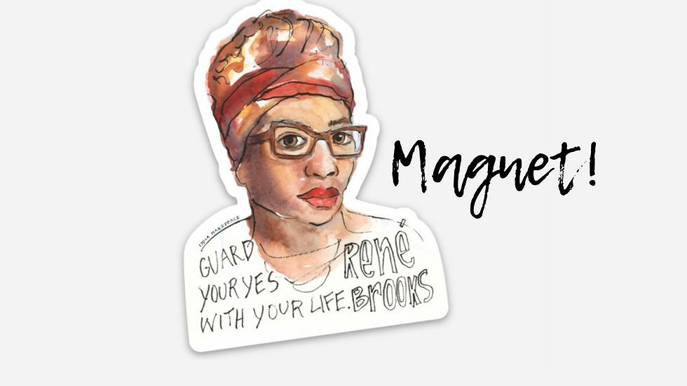 Affirm Black Women Portrait Magnet