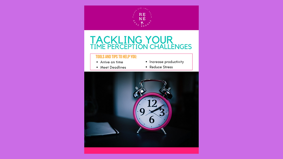 Tackling Your Time Perception Challenges Workbook