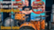 Simon John Tangerine Satin Flame Drum Kit