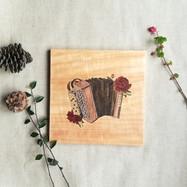 Tableau accordeon fleurie