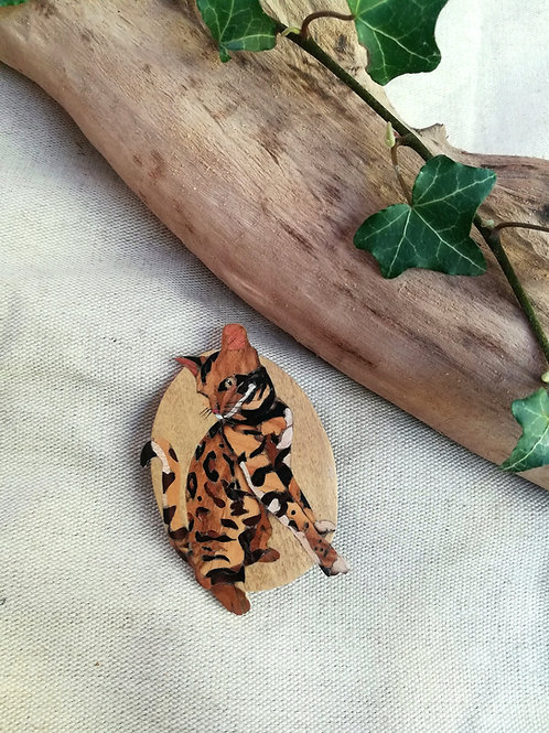 Broche chat du Bengal