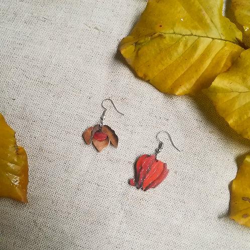 Boucles d'oreilles Agnes - Fleur de physalis