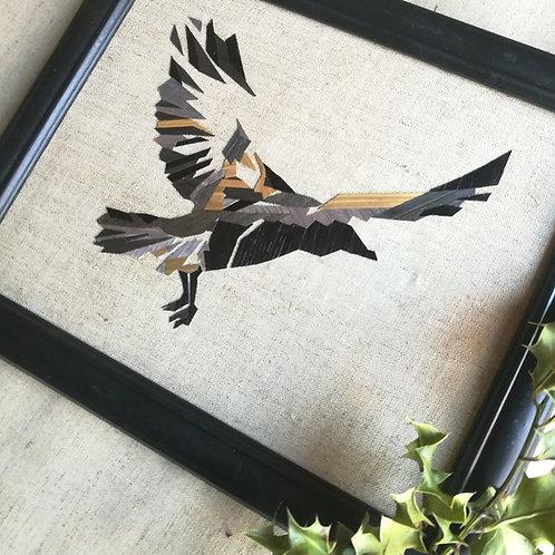Tableau corbeau géométrique