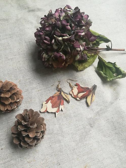 Boucles d'oreilles Vivian - Fleur de magnolia
