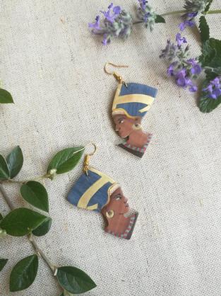 Boucles d'oreilles Néfertiti