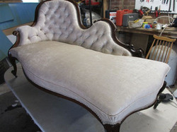 Chaise longue reupholstered