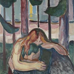 Edvard Munch - Vampire In The Forest 1916-1918