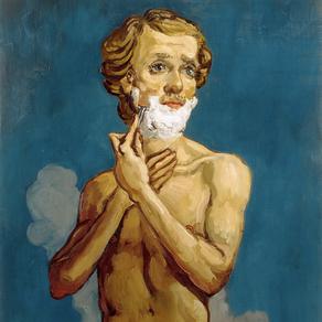 John Currin  - The Shaving Man, 1993