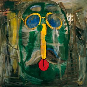 Albert Oehlen - Untitled (Head of idiot), 1988
