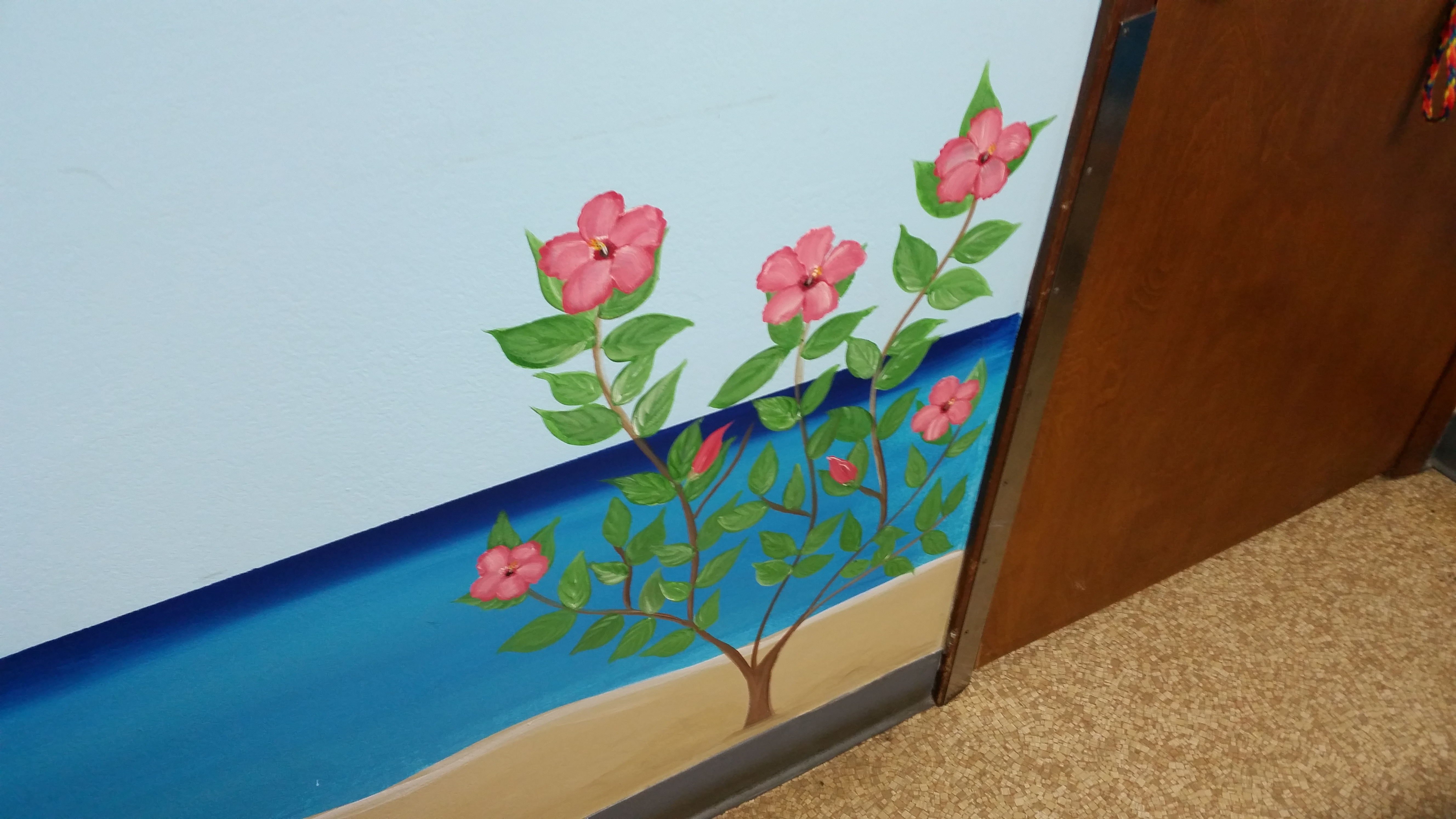 Detail of exam room 4 mural