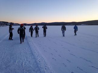 Training und Rennen in Schweden