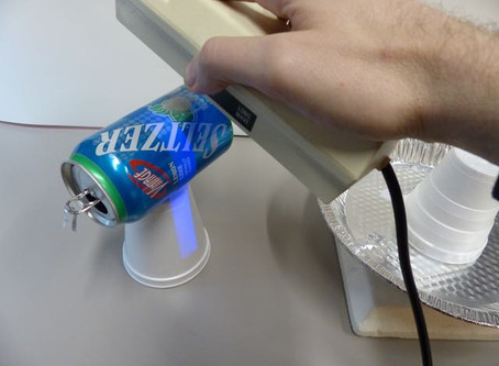 Soda Can Photoelectric Effect Demo