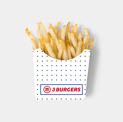 Free Brown Paper French Fries Box Mockup