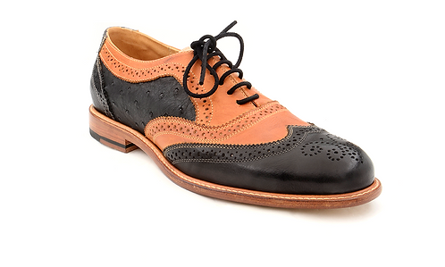 The Stefano 1 - Black Ostrich & Honey