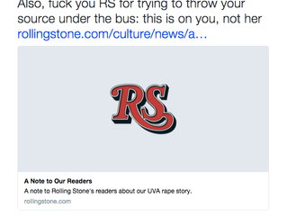 Rolling Stone and UVA: The Intersection of Journalism and Victim Blaming