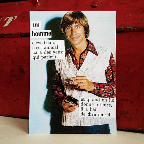 Carte postale - L'homme, c'est beau