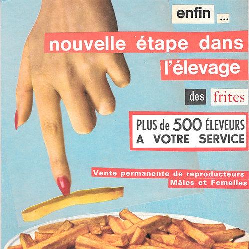 Carte postale - Élevage des frites