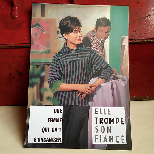 Carte postale - Femme organisée