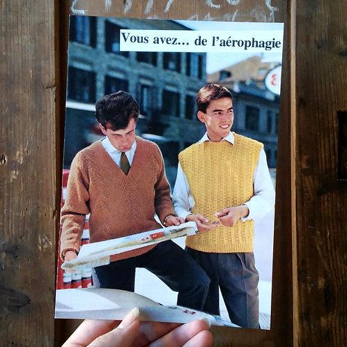 Carte postale - Vous avez de l'aérophagie
