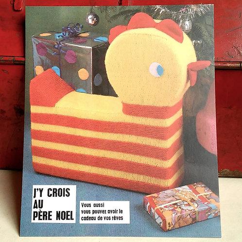Carte postale - J'y crois au Père Noël