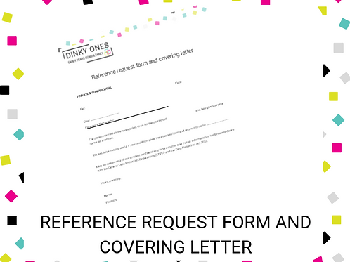 Reference Request Form and Covering Letter