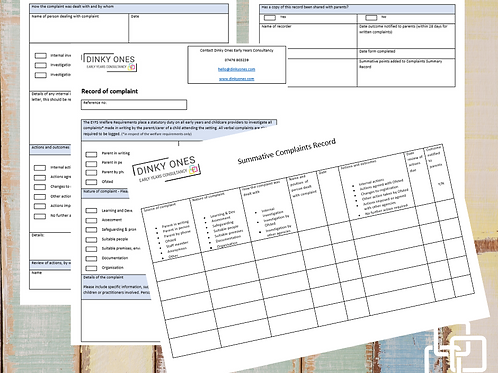 Complaint form and summary