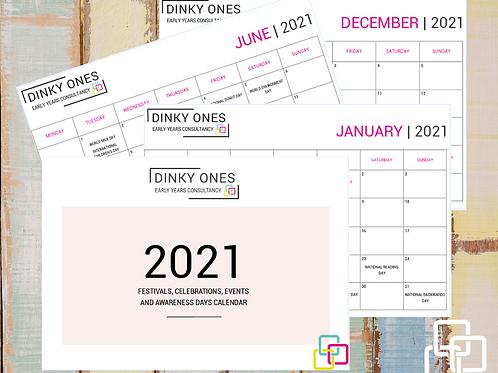 2021 Festivals, Celebrations and Awareness Days Calendar