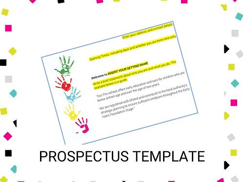 Prospectus Template