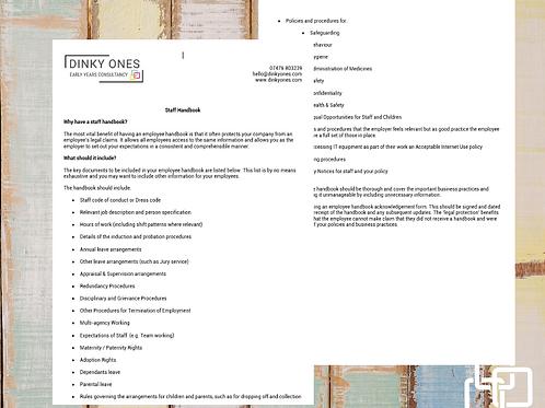 Staff Handbook List